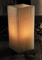 Wax Shell Candle Luminaries Ivory 3 x 7