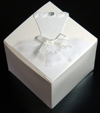 "Wedding Favor Boxes THE BRIDE 2-1/2"" (12 boxes/ pkg)"