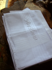 Wedding Hankerchiefs RING BEARER Embroidered