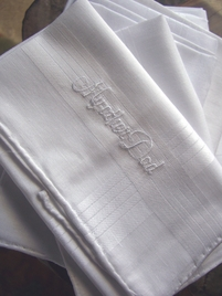 Wedding Hankies for MY OTHER DAD