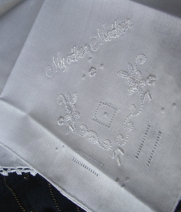 Wedding Hankies for MY OTHER MOTHER