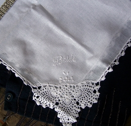 Wedding Hankies for the BRIDE