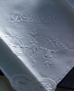 Wedding Hankies for the BRIDESMAIDS