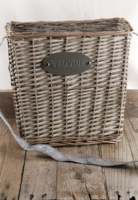 Welcome Basket w/Leather Strap