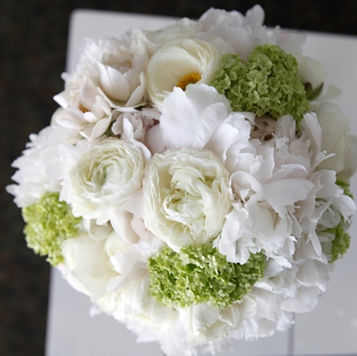 White, Cream & Green Flowers