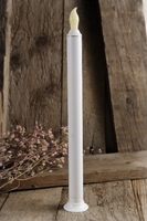 "White LED Battery Operated 11"" Taper Candles (touch function)"