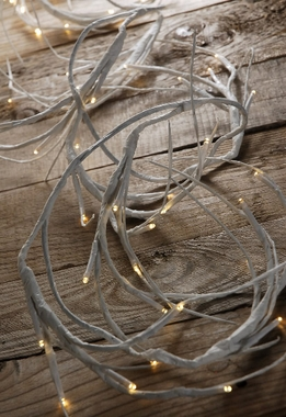 White LED Branch Light Garland Battery Operated | Warm White