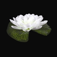 White LED Floating Lily Lights