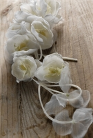 "White Orchids on a Nylon Cord - Flower Couture (15"")"