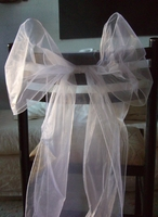 White Organza Chair Sashes (Pack of 10)