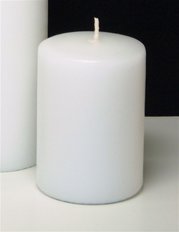 "White Pillar Candles 2.8"" x 4"" Unscented (2 candles/ pkg)"