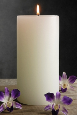 White Pillar Candles 4x8 Unscented Cotton Wicks