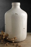 White Stoneware Jug Vase 11in