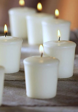 Votive Candles White 1.75in (Pack of 30)