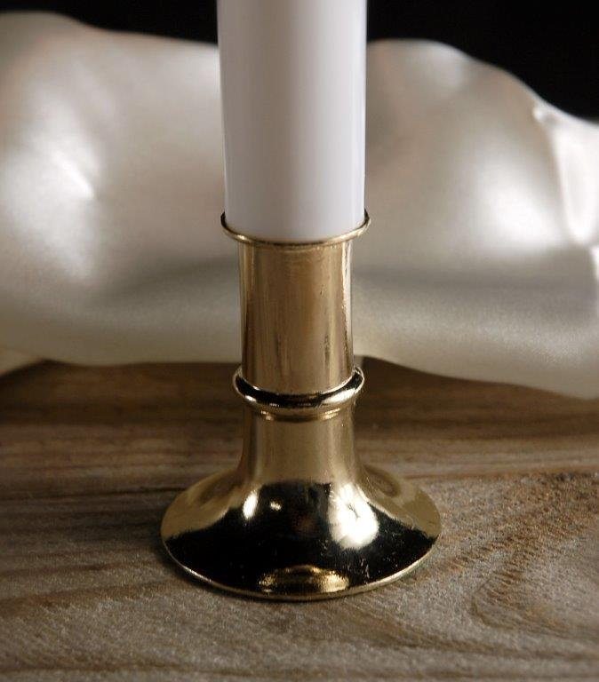 9in Window Candles Brass Base, C7 Bulb 7 Watt Plug In