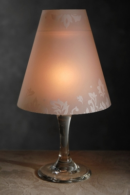 Wine Glass Candle Lampshades