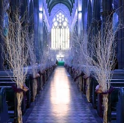 Winter Wedding Decorations: How to make iced branches