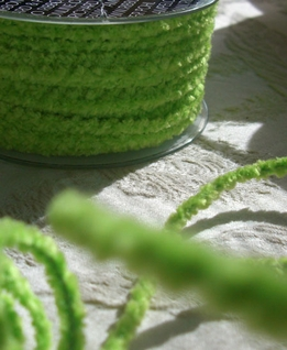 Wired Chenille Lime Green 55 yards