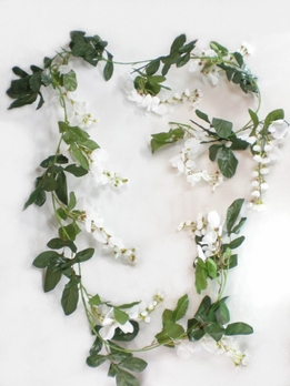Wisteria Cream White Garlands 6 feet Silk
