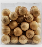 "Wood 3/4"" Spheres 11 ounces"