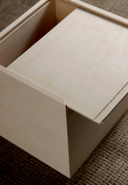Wood Box with Sliding Top