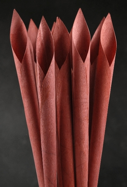 Wood Calla Cones Brown (12 cones/ pkg)
