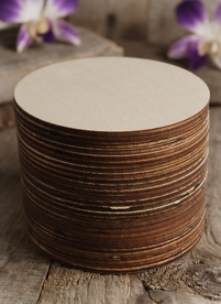 Wood Circles 4 inch Burned Edges (25 circles)