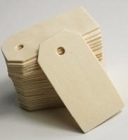 Wood Hang Tags (25 tags/ pkg) 2-1/4 in