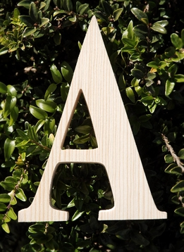 "Wood Letters Greek Alpha 3/4"" thick 6"" tall"