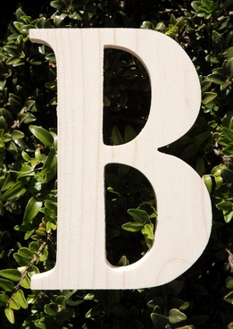 "Wood Letters Greek Beta 3/4"" thick 6"" tall"