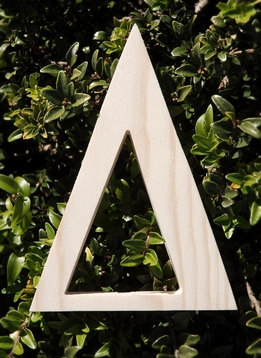 "Wood Letters Greek Delta 3/4"" thick 6"" tall"