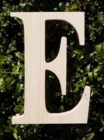 "Wood Letters Greek Epsilon 3/4"" thick 6"" tall"