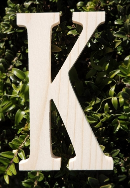 "Wood Letters Greek Kappa 3/4"" thick 6"" tall"