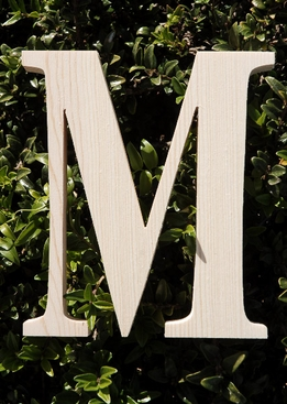 "Wood Letters Greek Mu 3/4"" thick 6"" tall"