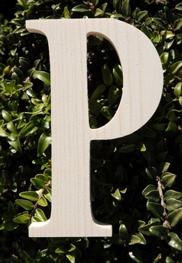 "Wood Letters Greek Rho 3/4"" thick 6"" tall"