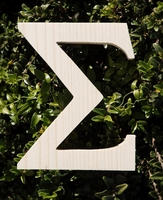 "Wood Letters Greek Sigma 3/4"" thick 6"" tall"