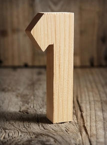 Wood Letters & Numbers  - Click to enlarge