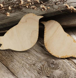 "Wood Love Birds 10"" Set of Two"
