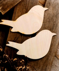 Wood Love Birds Set of Two 8in