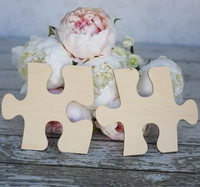 Wood Puzzle Pieces Set of Two