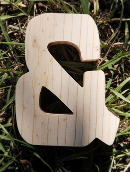 Wood Sign & Ampersand - 4 inch and 3/4 Thick Pine