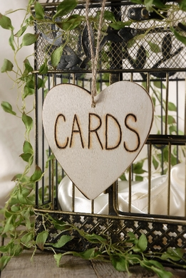 "Wood ""CARDS"" Sign 4.5"""