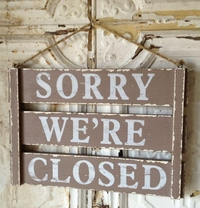 Wood Signs Open and Closed Wood Sign (17x12)