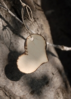 Wood Tags Burnt Edge Heart Tags (12 tags)