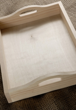 Wood Tray 15x11 with Handles