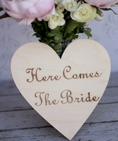 Wood Wedding Signs Here Comes the Bride Wood Sign 4 inch