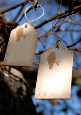 Wood Wishing Tree Painted Bird Hand Tags (12 tags)
