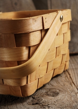 Woodchip 8x6 Baskets with Folding Handles