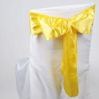 Yellow Satin Chair Sashes (Pack of 10)