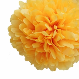 "Tissue Paper Pom Poms 20"" Yellow (Pack of 4)"